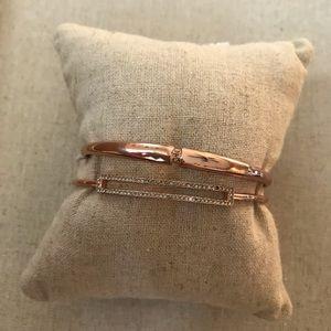 Two stella and Dot Rose Gold Bracelets